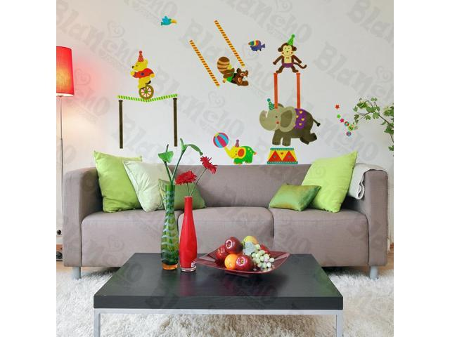 Home Kids Imaginative Art Circus Troup - Wall Decorative Decals Appliques Stickers