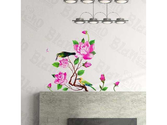 Home Kids Imaginative Art Outstanding Flowers - Wall Decorative Decals Appliques Stickers