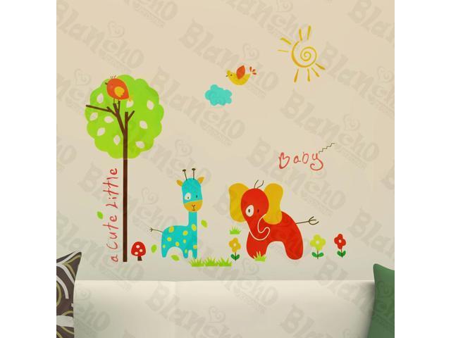 Home Kids Imaginative Art Cute Animals - Wall Decorative Decals Appliques Stickers
