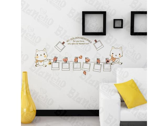 Home Kids Imaginative Art Little Cute Cat - Wall Decorative Decals Appliques Stickers