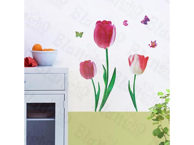 Home Kids Imaginative Art Romantic Flowers - Wall Decorative Decals Appliques Stickers