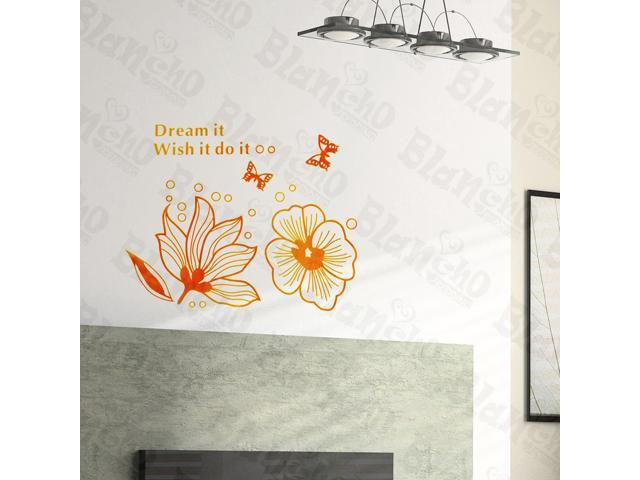 Home Kids Imaginative Art Enormous Flowers- Wall Decorative Decals Appliques Stickers