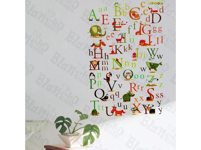 Home Kids Imaginative Art Animals' Alphabet - Wall Decorative Decals Appliques Stickers