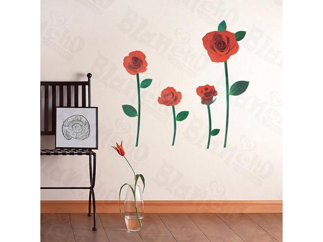 Home Kids Imaginative Art Romantic Rose - Wall Decorative Decals Appliques Stickers