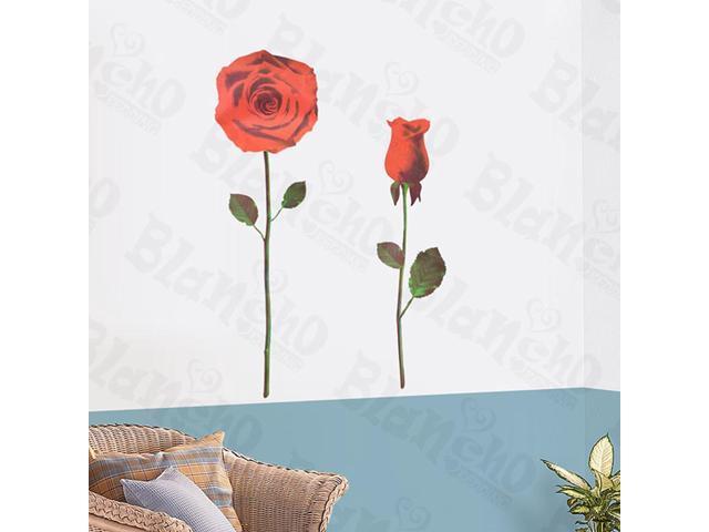 Home Kids Imaginative Art Ruddy Rose 1 - Wall Decorative Decals Appliques Stickers