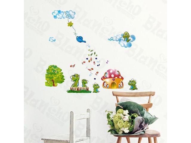 Home Kids Imaginative Art Mushroom House - Wall Decorative Decals Appliques Stickers