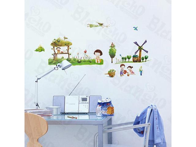 Home Kids Imaginative Art Village 2 - Wall Decorative Decals Appliques Stickers