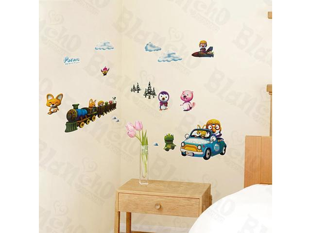 Home Kids Imaginative Art Winter Trip - Wall Decorative Decals Appliques Stickers
