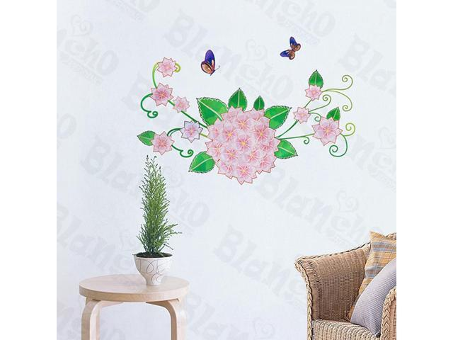 Home Kids Imaginative Art Pink Petals - Wall Decorative Decals Appliques Stickers
