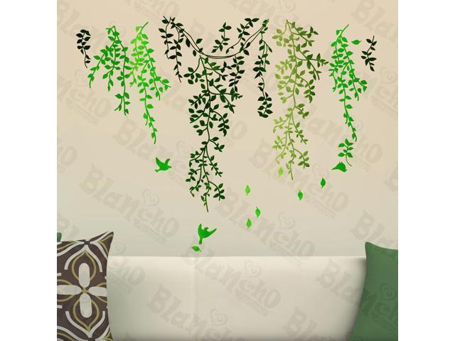 Home Kids Imaginative Art Green Curtain - Wall Decorative Decals Appliques Stickers