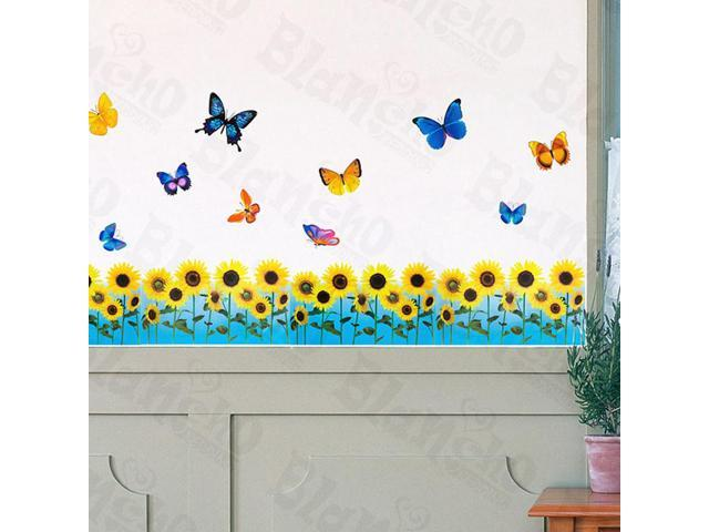 Home Kids Imaginative Art Flying Butterflies 6 - Wall Decorative Decals Appliques Stickers