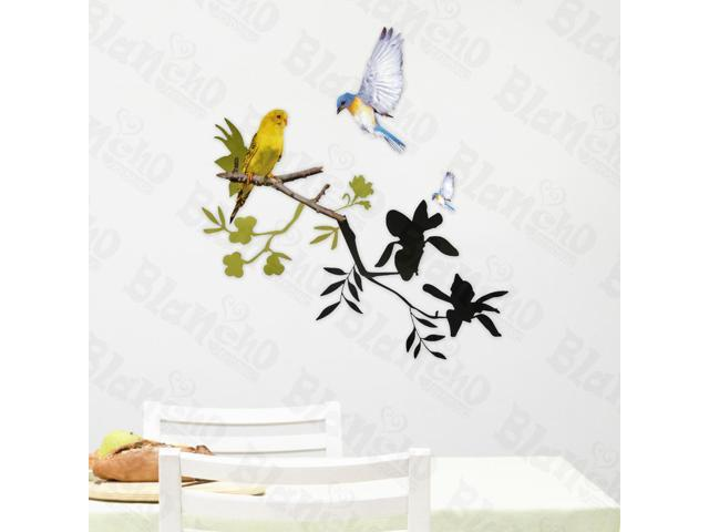Home Bedroom Twittering - Hemu 12.6 BY 23.6 Inches Wall Decorative Decals Appliques Stickers