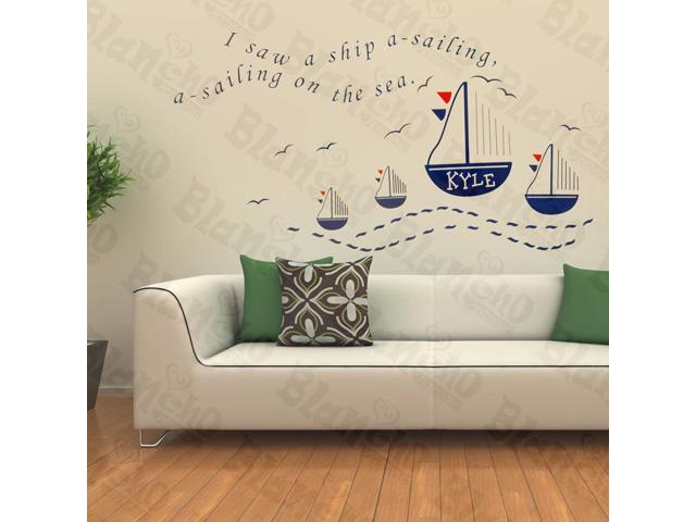 Home Kids Imaginative Art Ocean Trip - Wall Decorative Decals Appliques Stickers