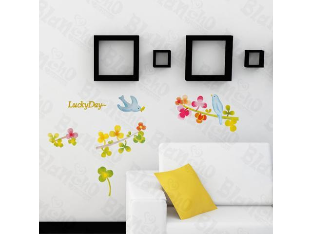 Home Bedroom Lucky Day - Hemu 12.6 BY 23.6 Inches Wall Decorative Decals Appliques Stickers
