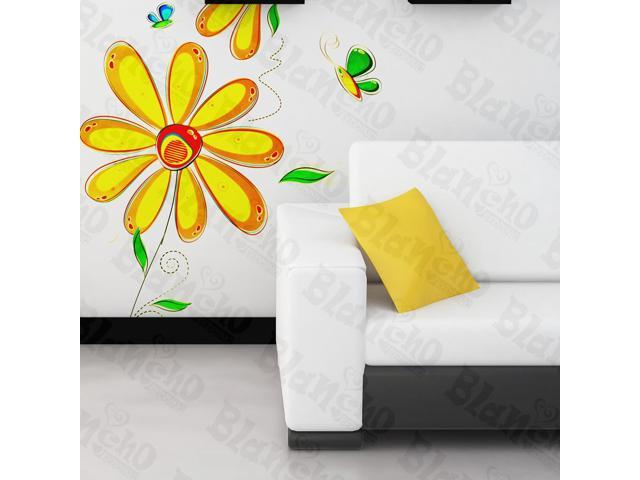 Home Kids Imaginative Art Hand painted Floral - Wall Decorative Decals Appliques Stickers