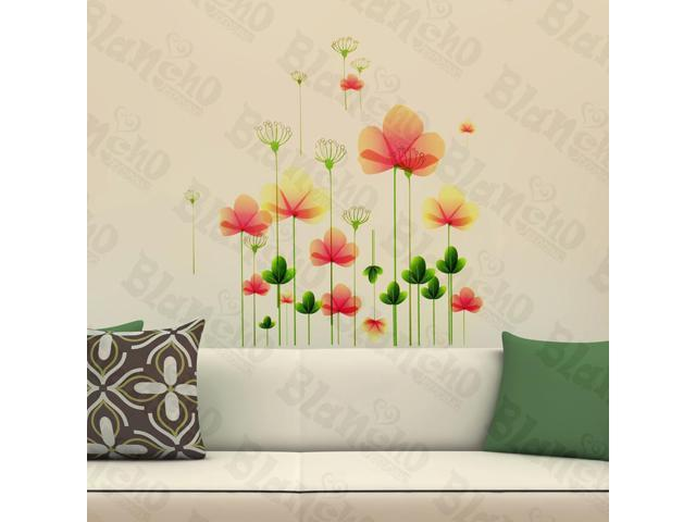 Home Kids Imaginative Art Dreamlike Floral - Wall Decorative Decals Appliques Stickers