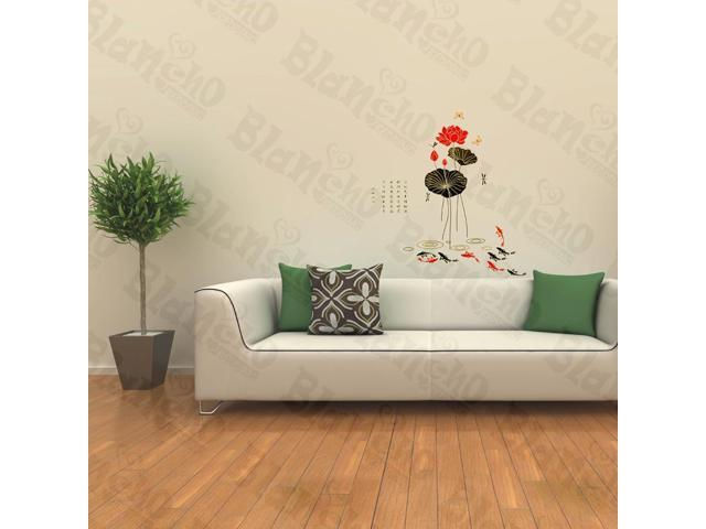 Home Kids Imaginative Art Lotus Just Buds - Wall Decorative Decals Appliques Stickers