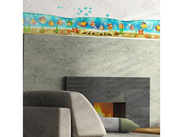 Home Kids Imaginative Art Sea World - Wall Decorative Decals Appliques Stickers