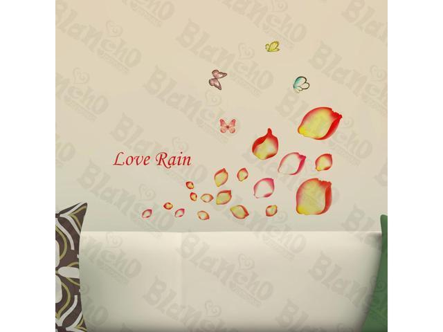 Home Kids Imaginative Art Rain Of Petals - Wall Decorative Decals Appliques Stickers