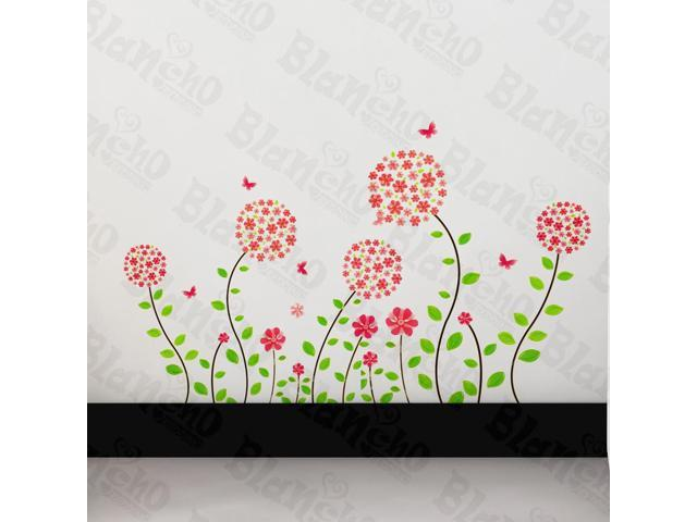 Home Kids Imaginative Art Flowers Wonderland - Wall Decorative Decals Appliques Stickers