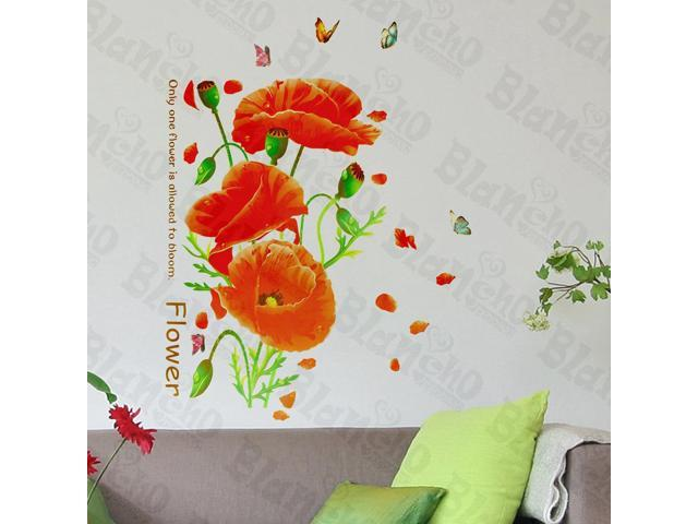 Home Kids Imaginative Art Showy Flower - Wall Decorative Decals Appliques Stickers