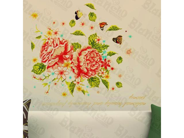 Home Kids Imaginative Art Geminate Flower - Wall Decorative Decals Appliques Stickers