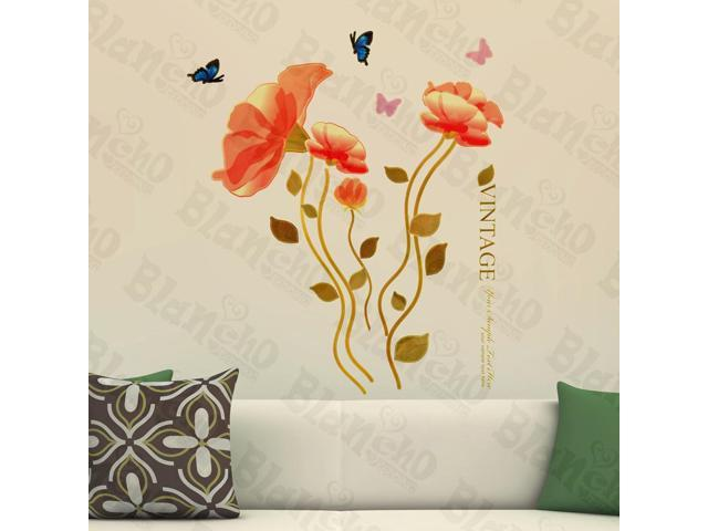 Home Kids Imaginative Art Vintage Blossom - Wall Decorative Decals Appliques Stickers