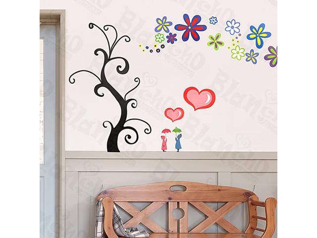 Home Kids Imaginative Art Love Tree - Large Wall Decorative Decals Appliques Stickers
