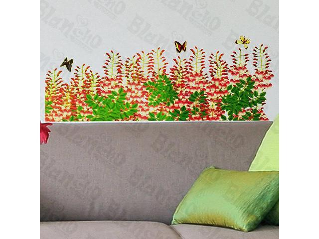 Home Kids Imaginative Art Flower Curtain - Wall Decorative Decals Appliques Stickers