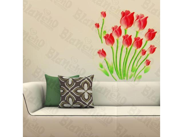Home Kids Imaginative Art Gentle Tulips - Wall Decorative Decals Appliques Stickers