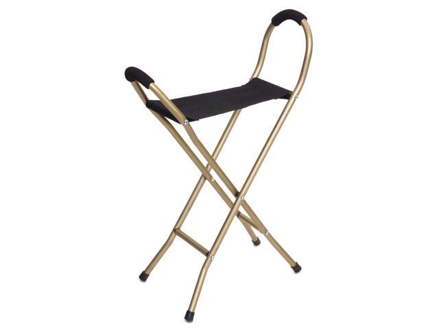 Essential Medical Supply Health Care Hospital Patient Endurance Folding Seat Cane - 4 Legged