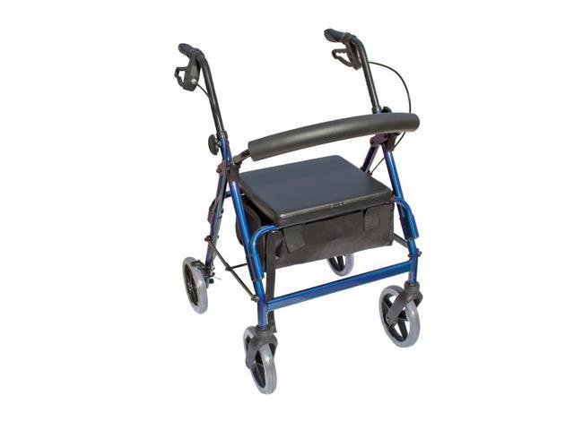 Essential Medical Supply Health Care Hospital Patient The Blazer 4 Wheel Walker - Blue