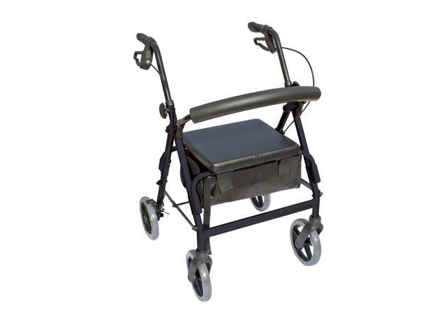 Essential Medical Supply Health Care Hospital Patient The Blazer 4 Wheel Walker - Black