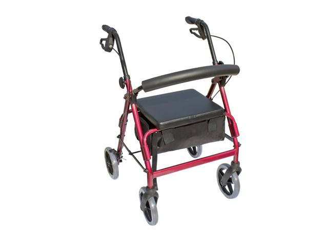 Essential Medical Supply Health Care Hospital Patient The Blazer 4 Wheel Walker - Red
