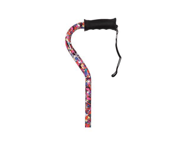 Essential Medical Supply Health Care Hospital Patient Gentle Touch Offset Cane - Pop Art