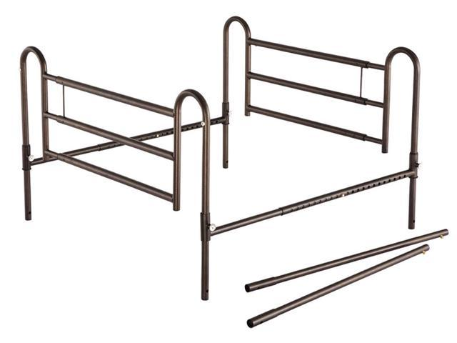 Essential Medical Supply Health Care Hospital Patient Home Bed Rails with Extender Powder Coated