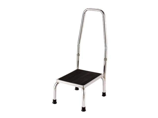 Essential Medical Supply Health Care Hospital Patient Chrome Plated Foot Stool with Handle