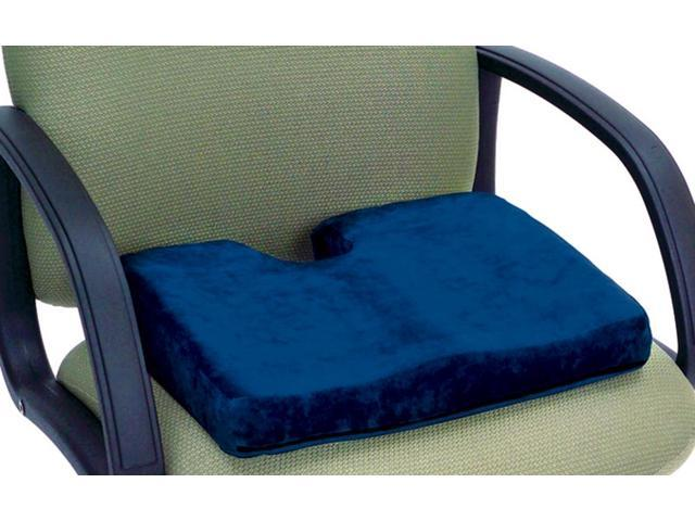 Essential Medical Supply Health Care Hospital Patient Memory P.F. Sculpture Comfort Seat Cushion with Cut Out