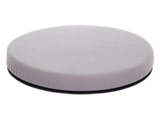 Essential Medical Supply Health Care Hospital Patient Swivel Seat for Cars Gray Cloth Cover Full Color Box