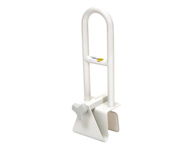 Essential Medical Supply Home Care Patient Adjustable Bath Tub Grip Safety Rail Bar - White