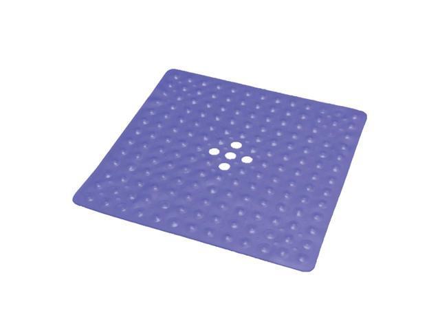 Essential Medical Supply Home Care Patient Shower Safety Floor Rug Shower Mat -Transparent Dark Blue