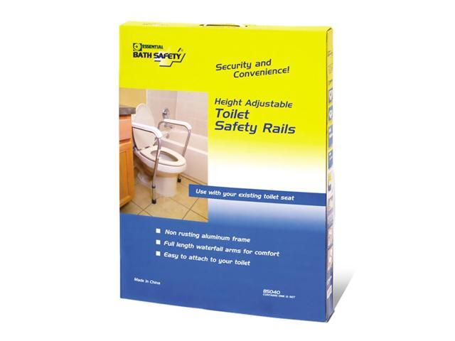 Essential Medical Supply Home Care Patient Safety Grip Height Adjustable Toilet Safety Rails
