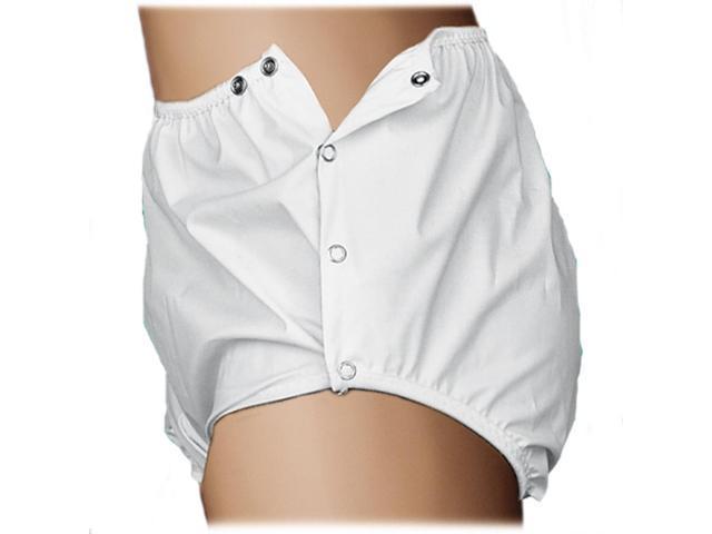 QuikSorb Snap Closure Adult Reusable Underwear Waterproof Incontinent Pants Size XL