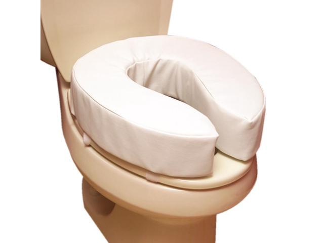 Essential Medical Supply Home Care Bathroom Patient Safety Support Padded Toilet Cushion - 4