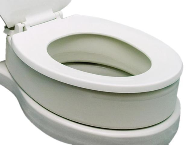 Essential Medical Supply Home Care Bathroom Patient Safety Toilet Seat Riser-Standard