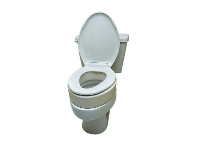 Essential Medical Supply Home Care Bathroom Patient Safety Toilet Seat Riser-Elongated