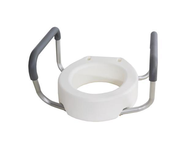Essential Medical Supply Home Care Patient Safety Grip Toilet Seat Riser with Arms -Standard