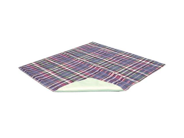 Quik Sorb Home Care Patient Bed Matress Protector 18x24 Plaid Underpad