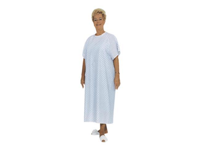 Essential Medical Supply Home Care Hospital Patient Dress Standard Gown - Blue