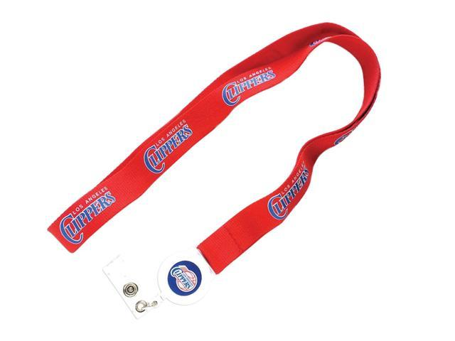 NBA Los Angeles Clippers Team Logo Badge Reel Lanyard Id Ticket Clip Holder